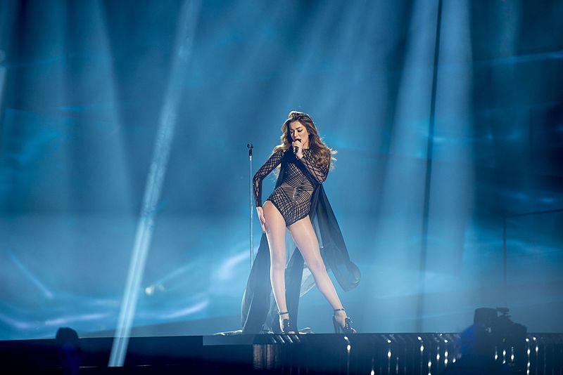 Iveta Mukuchyan representing Armenia with the song