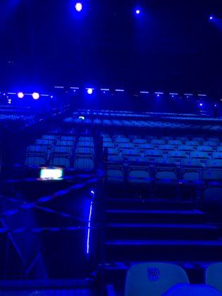 Inside the Expo Arena in Tel Aviv
