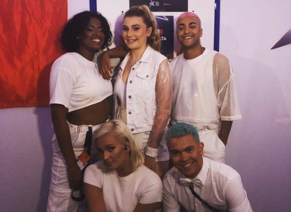 Michela Pace backstage