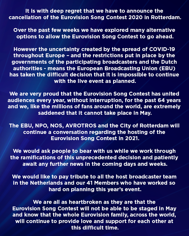 Cancelled Eurovision