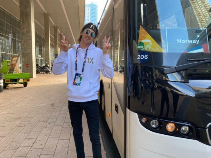 TIX arrives in Rotterdam for Eurovision 2021