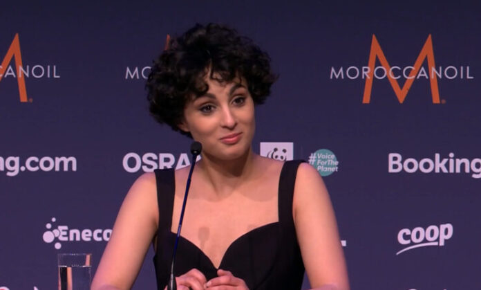 Barbara Pravi at Eurovision 2021 in Rotterdam
