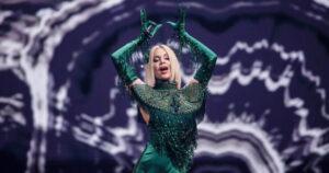 Samanta Tīna, Latvia, Second Rehearsal, Rotterdam Ahoy, 14 May 2021 — EBU / Thomas Hanses