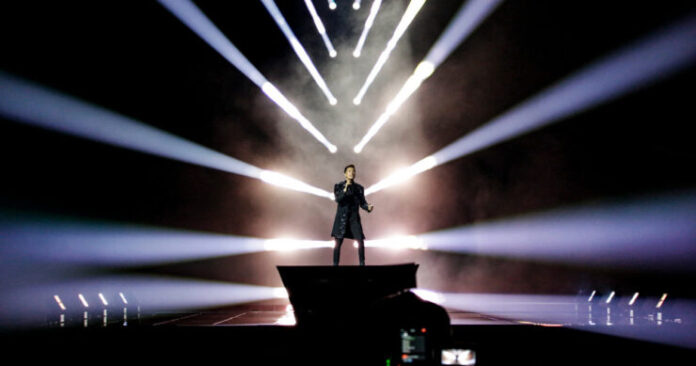 Vincent Bueno, Austria, Second Rehearsal, Rotterdam Ahoy, 13 May 2021 — EBU / Thomas Hanses