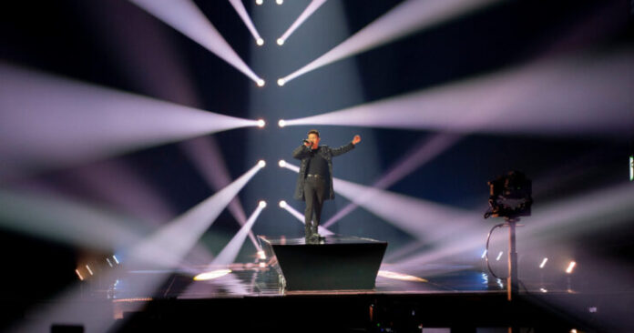 Vincent Bueno, Austria, First Rehearsal, Rotterdam Ahoy, 10 May 2021 — EBU / Andres Putting